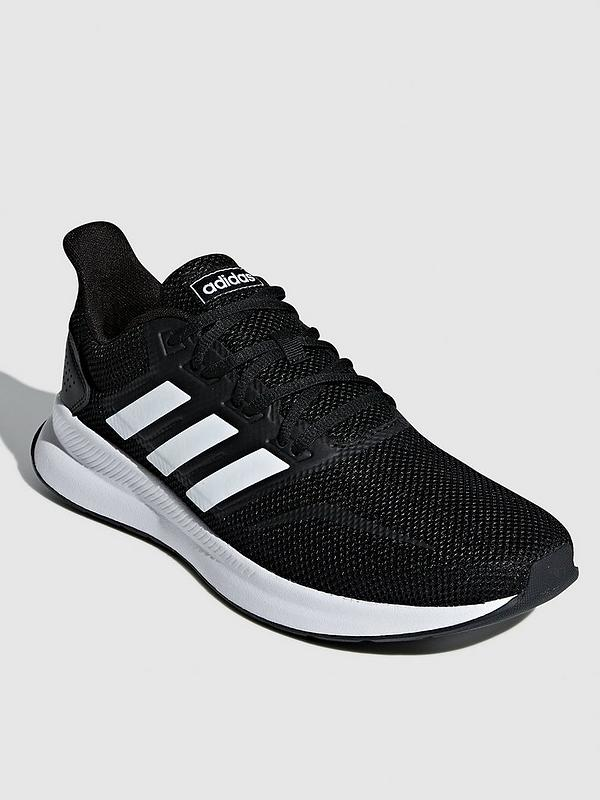 black adidas trainers