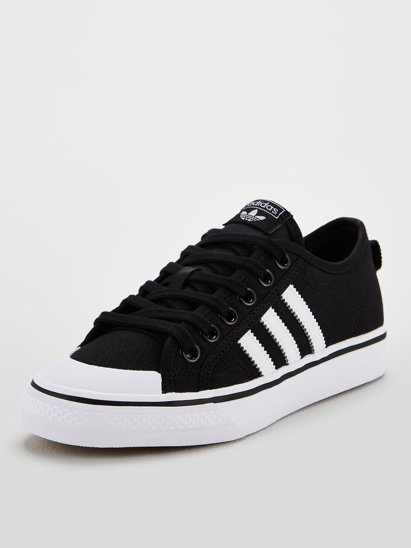 womens black adidas trainers